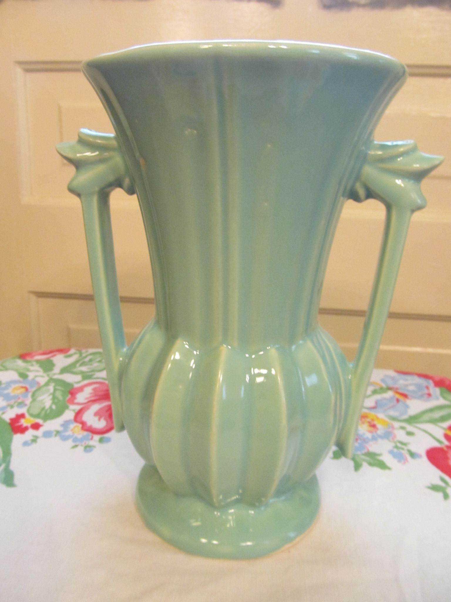 "McCoy Pottery 9"" Handled Vase"