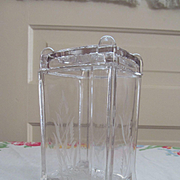 EAPG Post aka Square Panes Pickle Castor Jar by Adams & Co