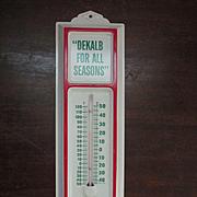 DeKalb Metal Advertising Thermometer, For All Seasons