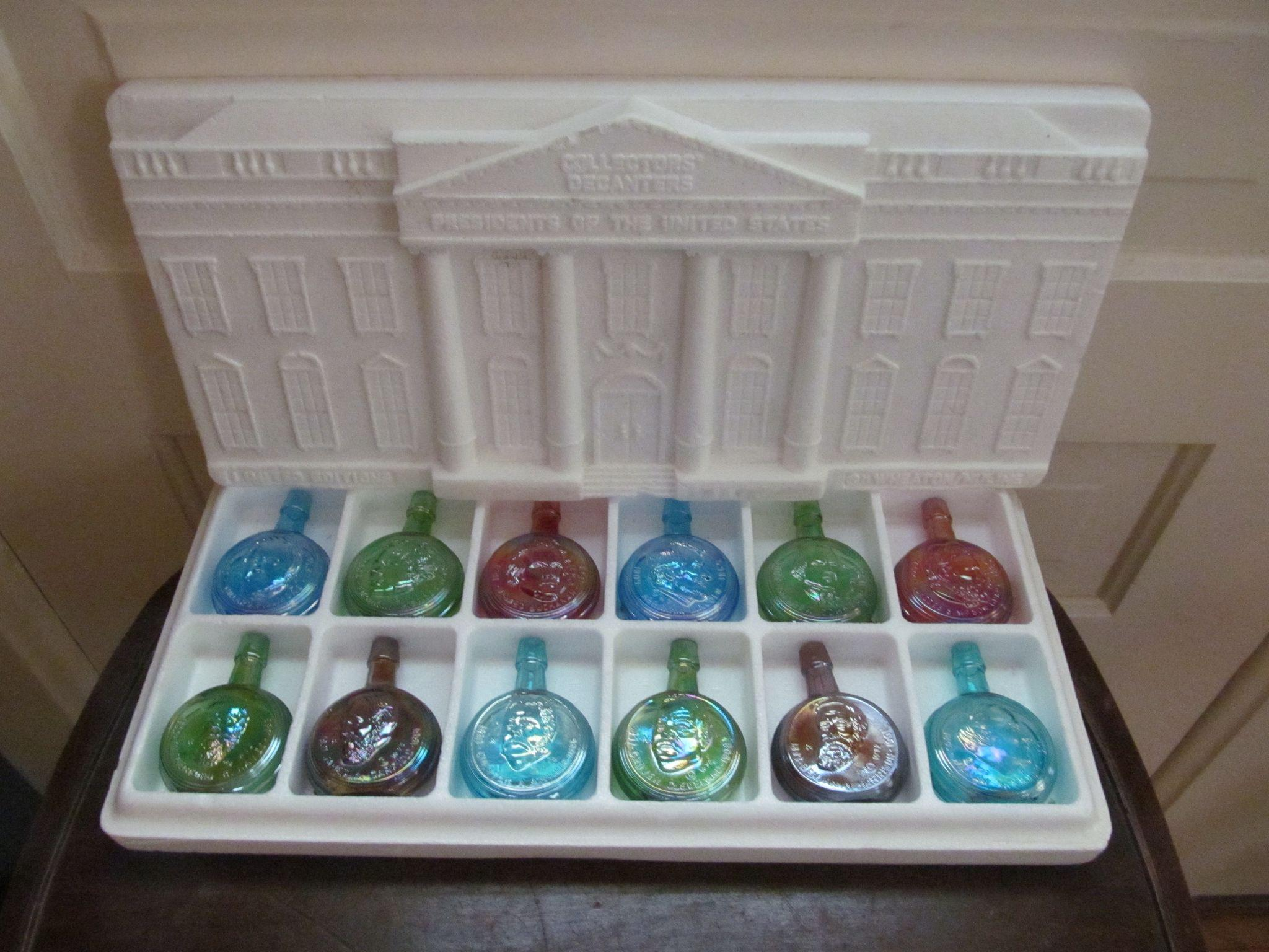 Wheaton Presidential Commemorative Limited Edition Carnival Glass Bottles, Second in Series