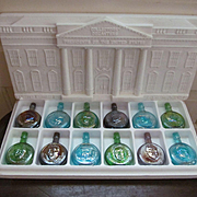 Wheaton Presidential Limited Edition Commemorative Carnival Glass Bottle Set, Third in Series