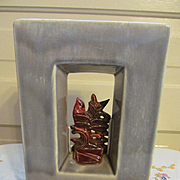 McCoy Pottery Silhouette Shadow Box Planter Vase