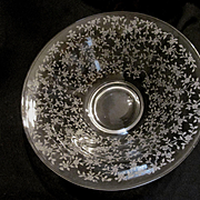 "Tiffin Cerice 11.5"" Bowl, Etched Roses"