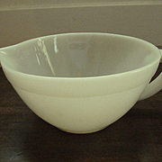 Fire King Ivory Batter Mixing Bowl Jug by Anchor Hocking