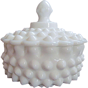 Fenton Large Hobnail Candy Box