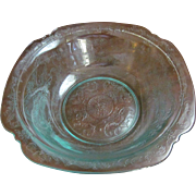 "Teal Madrid Recollections 9.5""  Bowl by Indiana Glass"