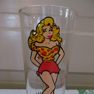Daisy Mae Al Capp 1975 Promotional Drinking Glass