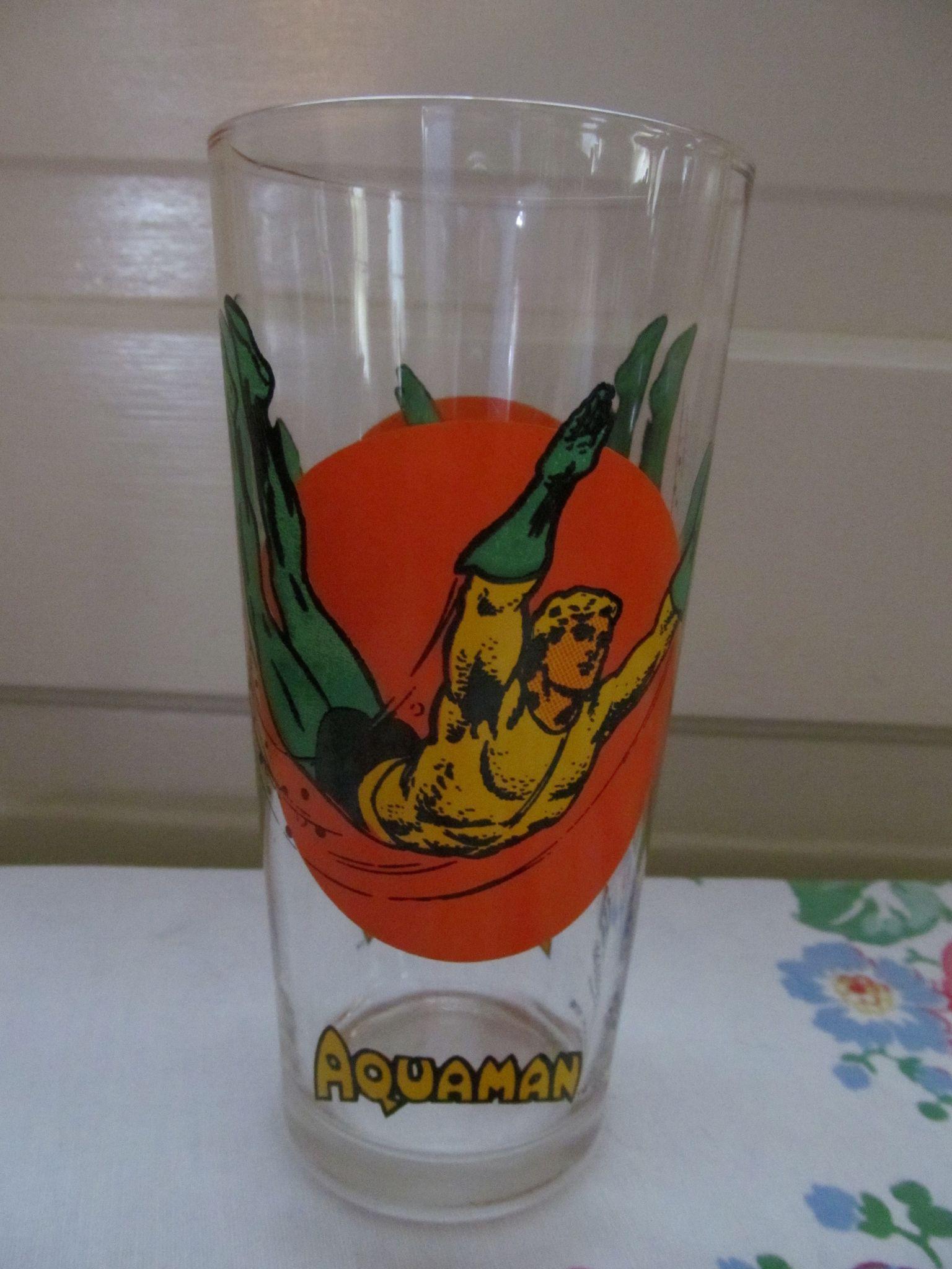 Aquaman 1976 Super Series DC Comics Promotional Drinking Glass