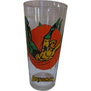 Aquaman 1976 Super Series DC Comics Promotional Drinking Glass