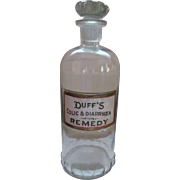 Duff's Colic & Diarrhoea Remedy Pharmacy Bottle