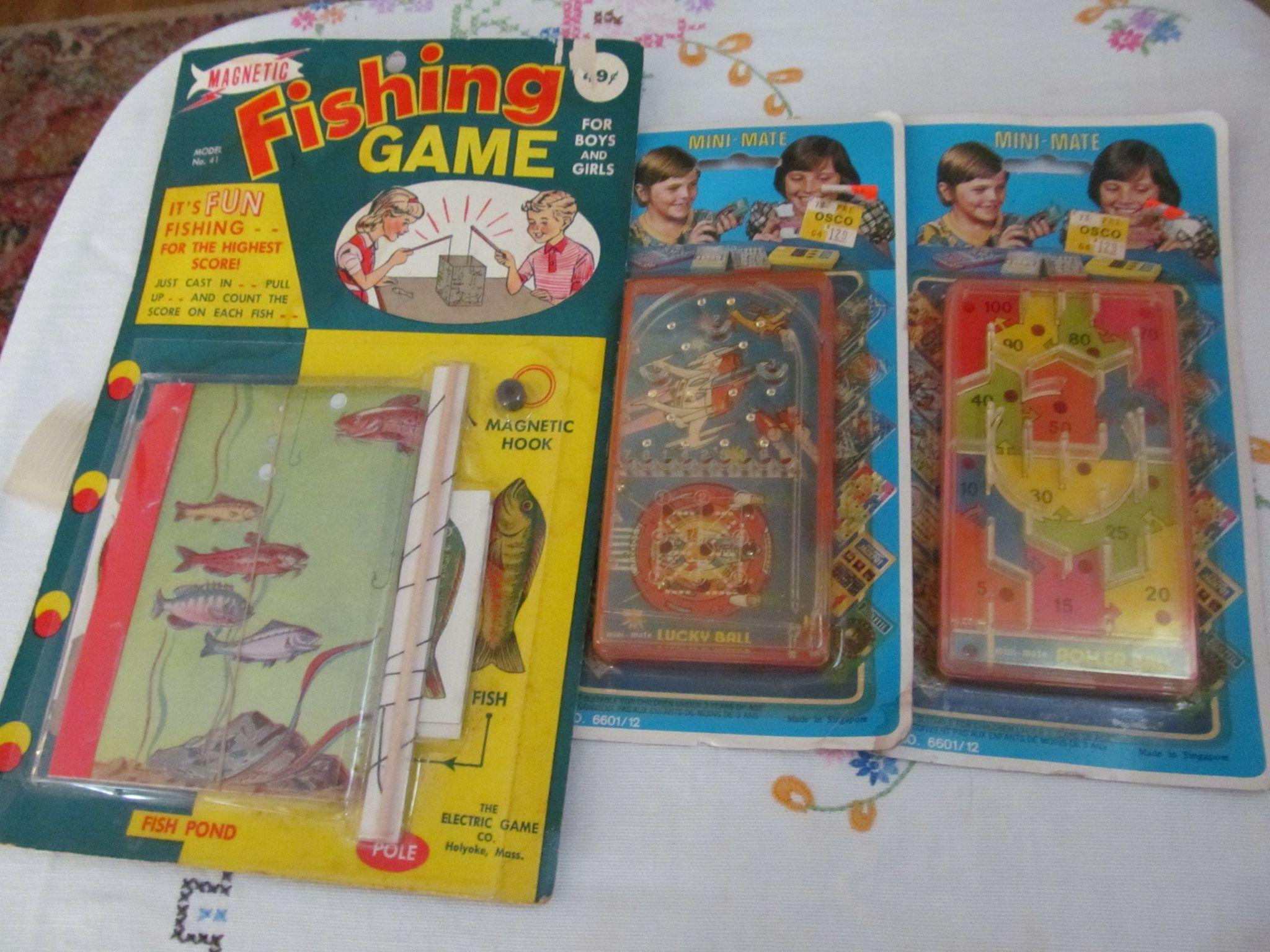 Unopened Children Games, Magnetic Fishing, Lucky Ball Pinball and Roller Ball
