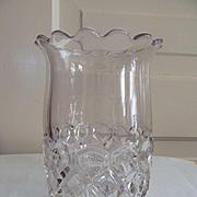 EAPG Celery Spoon Holder Vase, Loop & Diamond Pattern