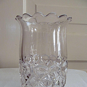 EAPG Celery Spoon Holder Vase, Loop & Diamond Pattern