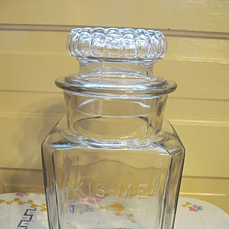 Early  Kis-Me Gum Counter Top Jar