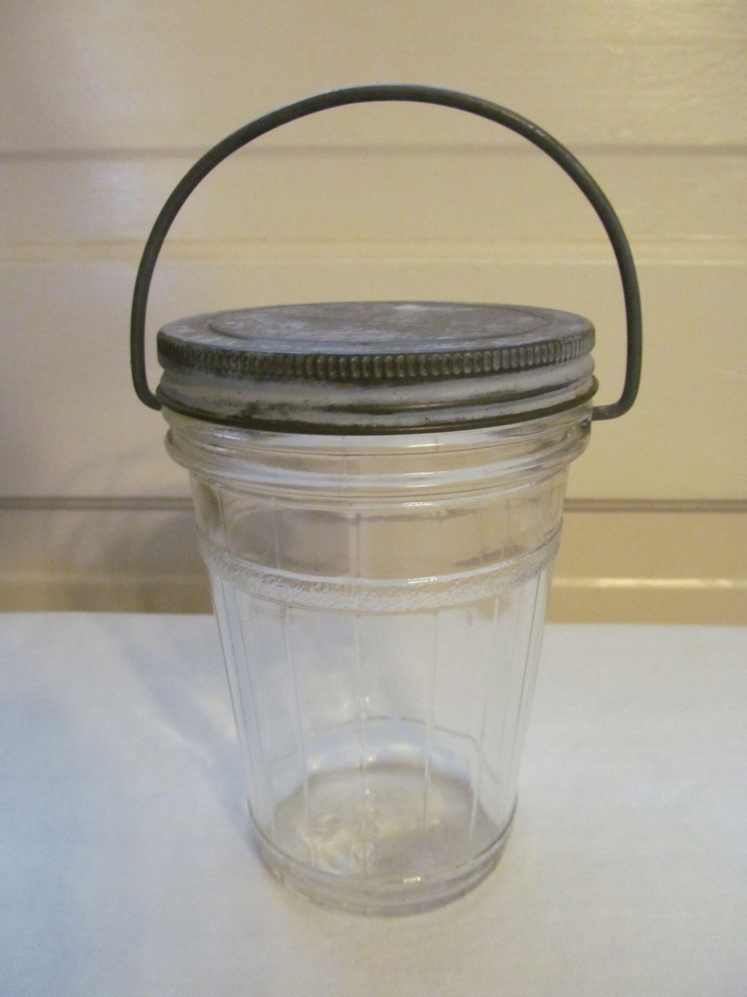 Hazel Atlas Barrel Pantry Jar with Wire Handle