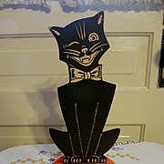 Halloween Black Cat Crepe Paper Stand Up Decoration