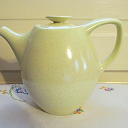 Retro Mid Century Yellow Coffee Pot