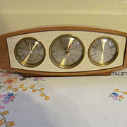 Airguide Mid Century Retro Barometer Weather Station, Temperature, Weather, Humidity