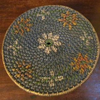 Tight Woven Hand Painted Sewing Basket