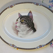 Noritake Tabby Cat Kitty Platter