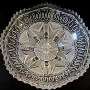 EAPG Yoke and Circle aka New Era Footed Bowl by Higbee Glass Company