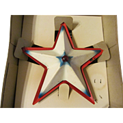 Noma Metal Illuminated Christmas Tree Topper Star with Box