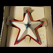 Noma Metal Illuminated Christmas Tree Topper Star with Box