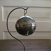 Barton and Reed 1980 Christmas Ball Ornament with Stand, Silver Plate