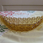 Golden Amber Daisy and Button Wall Pocket Canoe by LG Wright