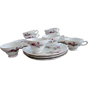 Moss Rose 8pc Snack Set