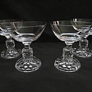 Four American Lady Fostoria 4oz Cocktail Goblets
