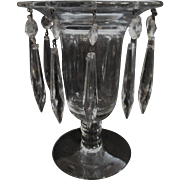 Heisey #1183 Reverse Vase Candle Holder with Prisms
