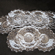 Eight American Fostoria Bread and Butter Plates