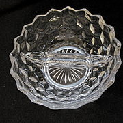 American Fostoria 2 Part Round Relish Condiment Dish Bowl