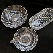 Three American Fostoria Serving Bowls