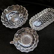 Three American Fostoria Serving Bowls