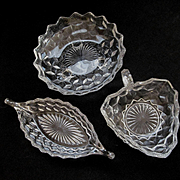 Three American Fostoria Serving Bowls Dishes