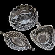 Three American Fostoria Serving Bowls Dishes
