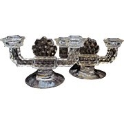 American Fostoria 2 Light Candle Holder Set