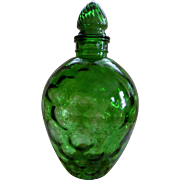 Green Wheaton Honeycomb Decanter Bottle