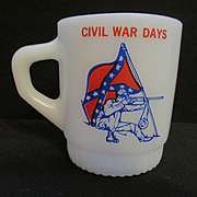 Fire King Hocking Civil War Days Coffee Mug