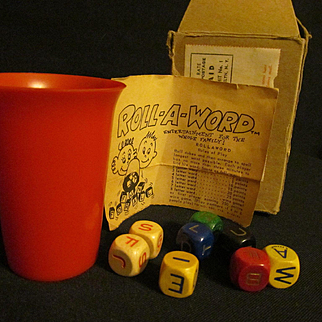 Roll-A-Word Game with Instructions, Box..West Germany