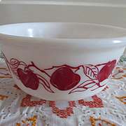 Hazel Atlas Red Apple Mixing Bowl