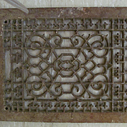 Cast Iron Decorative Floor Register without grate