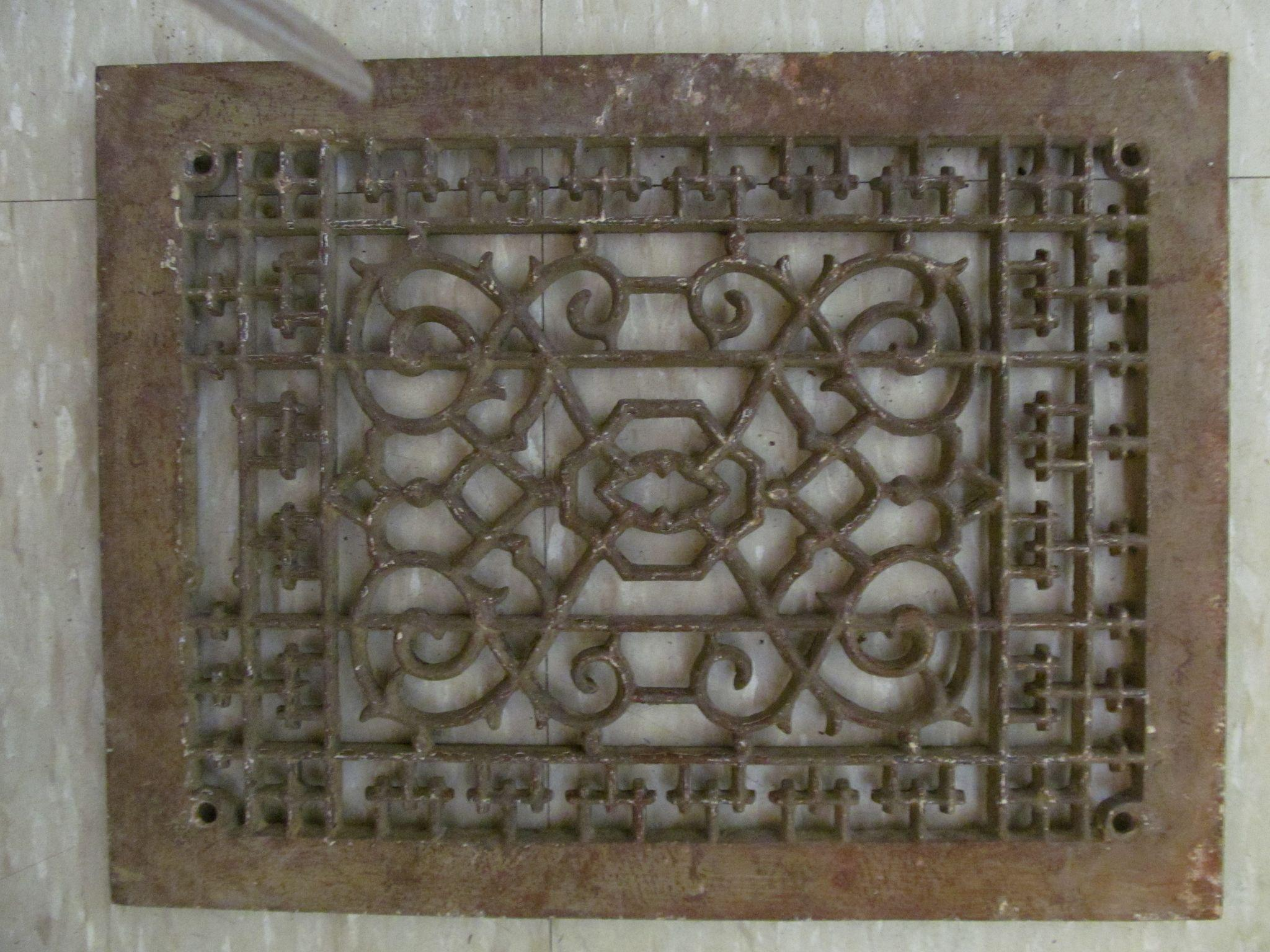 Cast Iron Decorative Floor Register Without Grate From