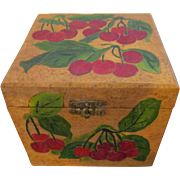 Flemish Art Pyrography Hand Carved Red Cherry Box