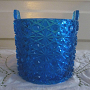 Fenton Daisy and Button Dark Blue Bucket