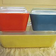 Pyrex 8pc Primary Colors Refrigerator Dish Set