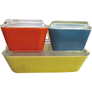 Pyrex 8pc Primary Colors Refrigerator Dish Set