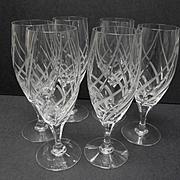 Mikasa Windless Pattern Set of Six Wine Goblets